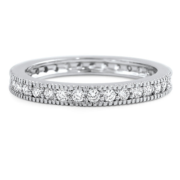 925 Silver Signity CZ Bead Set Eternity Band