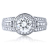 2.05 CTW Modern Simulated Diamond Halo Ring