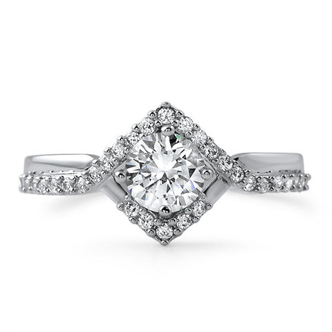 1.33 CTW Geometric Modern Engagement Ring