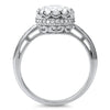 2.45 CTW Solitaire CZ Ring in Crown Setting