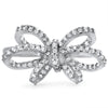 925 Silver Butterfly Ribbon Fashion Ring