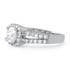 2.10 CTW Cushion Cut CZ Halo Split Shank Ring