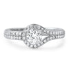 Sterling Silver CZ Hitch Lock Promise Ring