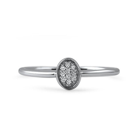 0.10 Carat Petite Silver CZ Fashion Ring