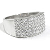 0.90 CTW Pave Set Sterling Silver Fashion Ring