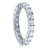 2.2 CTW Silver Prong Set CZ Eternity Band