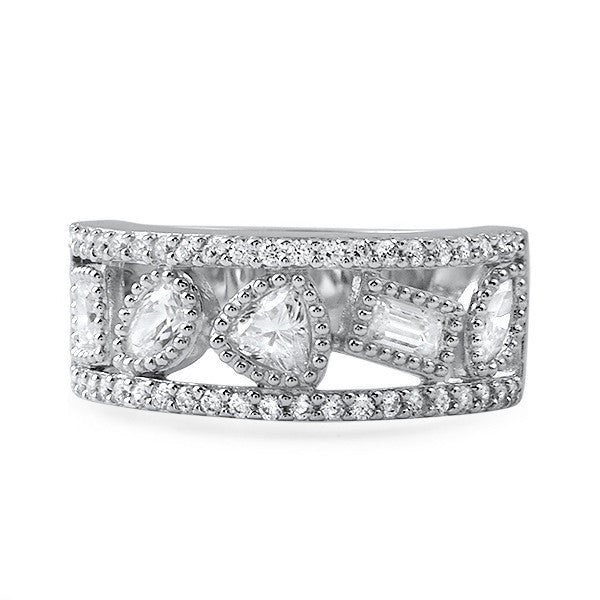 1.65 CTW Fancy Cut Faux Diamond Ring