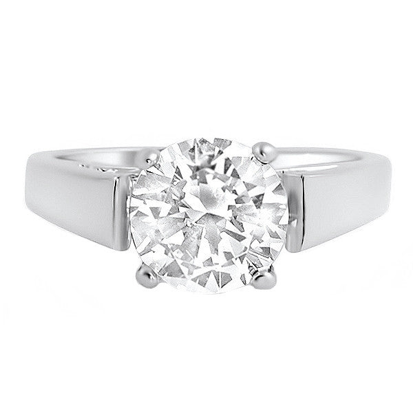 2.04 Carat 5A Flawless CZ Solitaire Ring