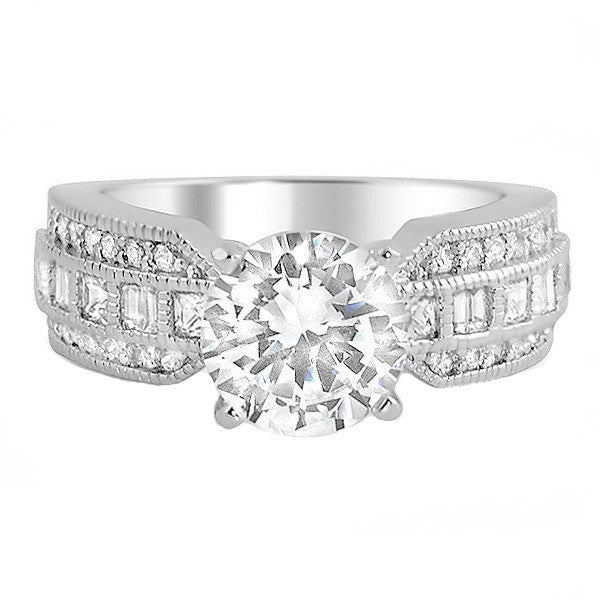 2 Carat Fancy Solitaire 5A CZ Engagement Ring