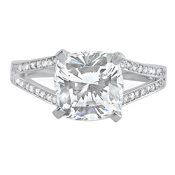 shank prong engagement four ring rounded rings