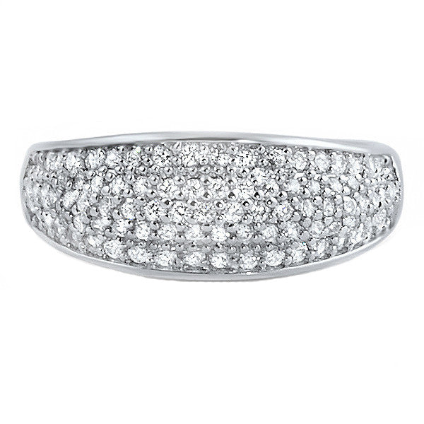 Sterling Silver Signity CZ Micropave Fashion Ring