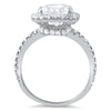 4.80 CTW CZ Cushion Cut Halo Fashion Ring