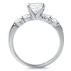 2 CTW Sterling Silver AAA CZ Engagement Ring Set