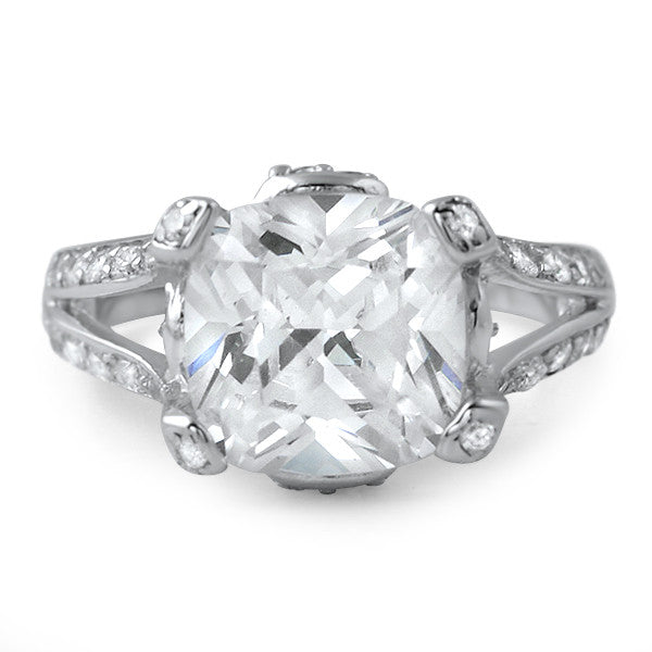 5.5 CTW Oversized Cushion Cut Statement Ring