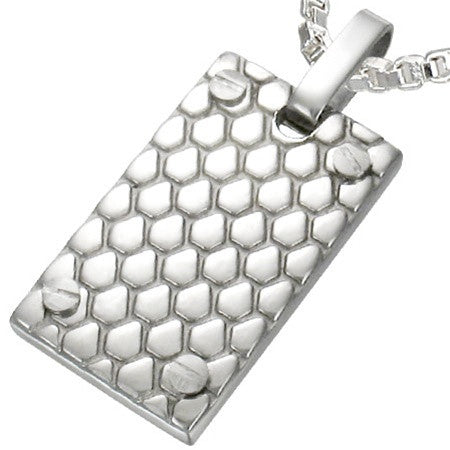 SERPENT Steel Snake Skin Pattern Dogtag Set
