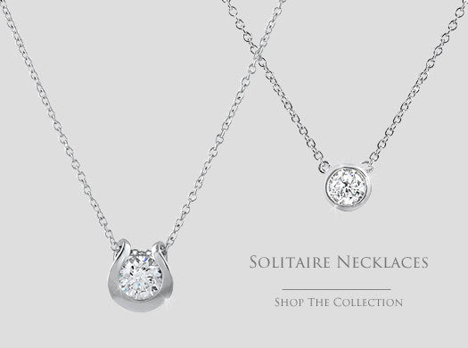 cz solitaire necklaces