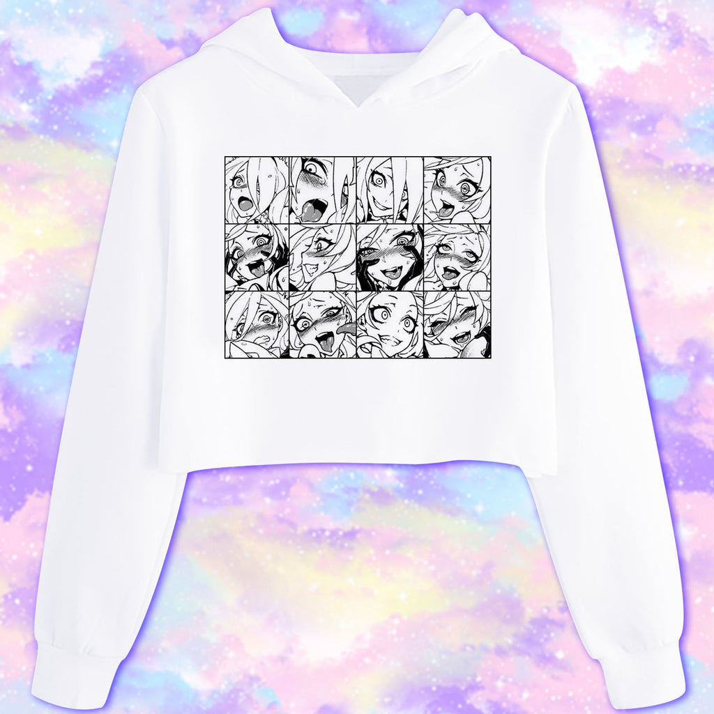 Ahegao Hoodie - Happy Monday | Kawaii Anime Handmade Clothes