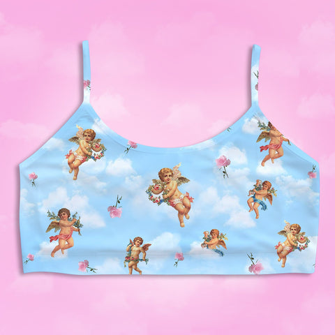 Cupid Crop Bra - Happy Monday | Kawaii Anime Handmade Clothes