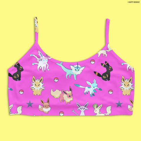 Pokemon Crop Bra - Happy Monday | Kawaii Anime Handmade Clothes