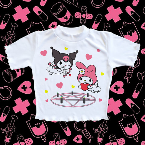 kuromi & my melody - Happy Monday | Kawaii Anime Handmade Clothes