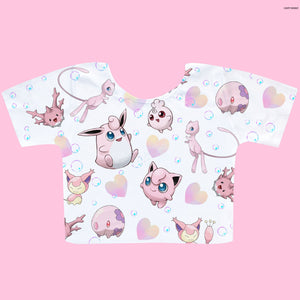 Pink Pokemon - Happy Monday | Kawaii Anime Handmade Clothes