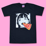 Pizza Lover (Black) 🍕 - Happy Monday | Kawaii Anime Handmade Clothes