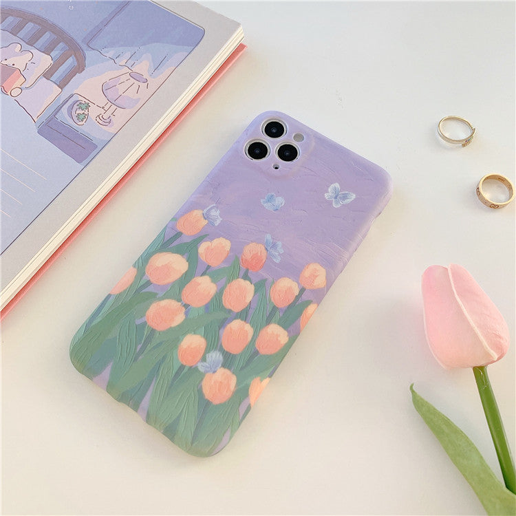 Tulip Flowers Oil Painting Phone Case For iPhone