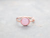 Rose Gold Pink Opal Ring