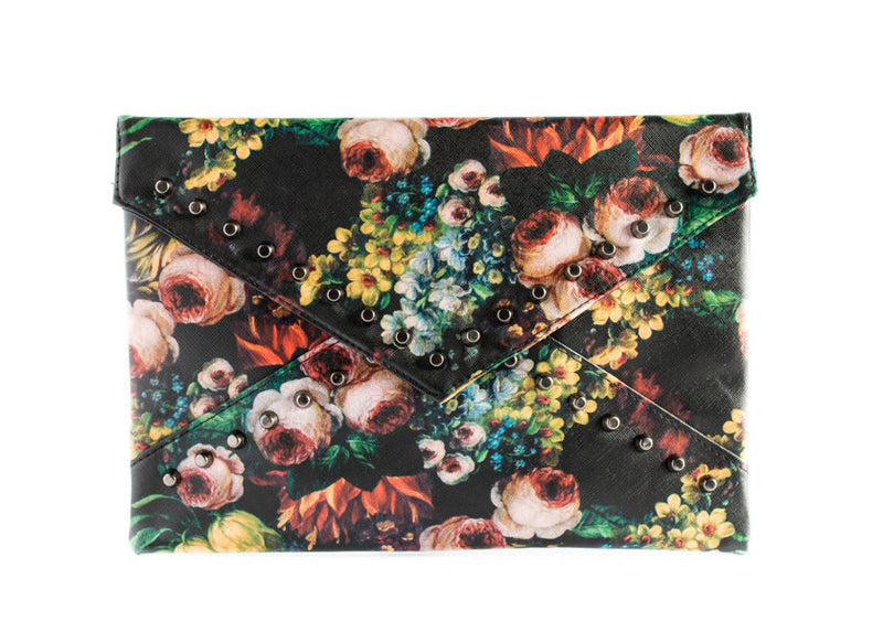 Floral Studded Clutch