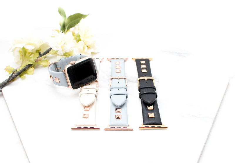 The Stella | Studded Leather Apple Watch Band