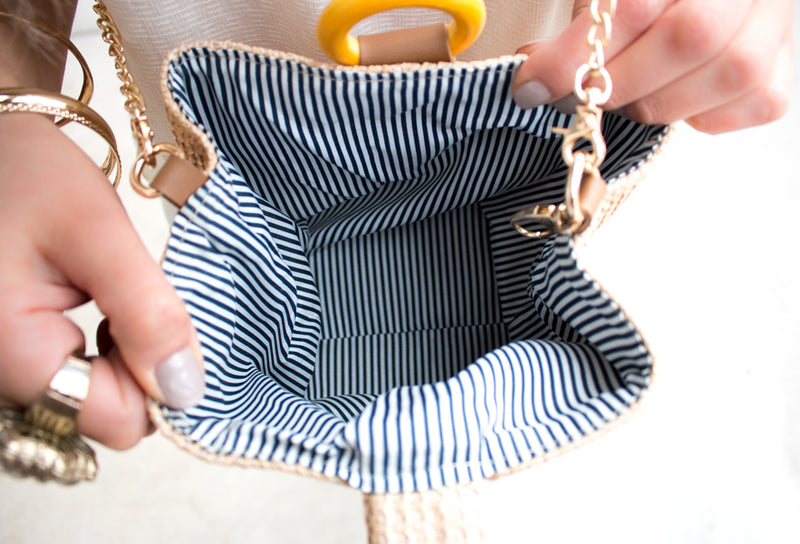 The Adel Woven Bucket Handbag