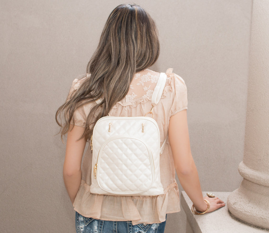 The Layla | Quilted Leather Backpack