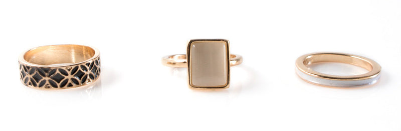 The Grace | Opal Stacking Rings