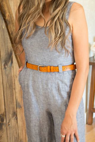 Boho Beaded Buckle Belt