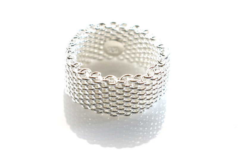 The Tiffany | Designer Inspired Sterling Silver Mesh Ring