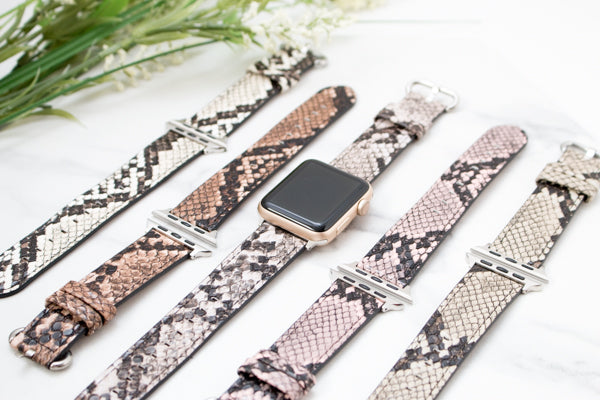 Leather Python Apple Band