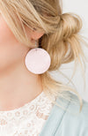 Leather Circle Earrings | 19 Colors