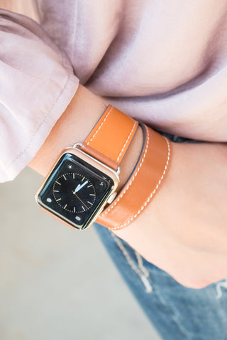 Sloane Leather Apple Watch Band