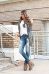 Long Button Snap Cardigan