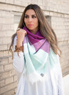 Color Block Blanket Scarf