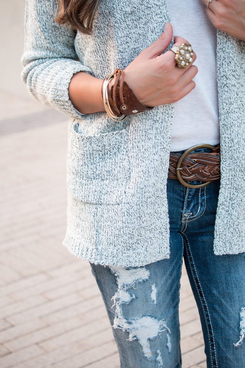 Heathered Sweater Cardigan