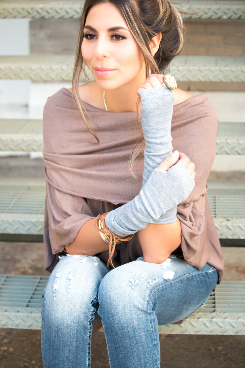 Long Fingerless Gloves | Light Knit | 4 Colors