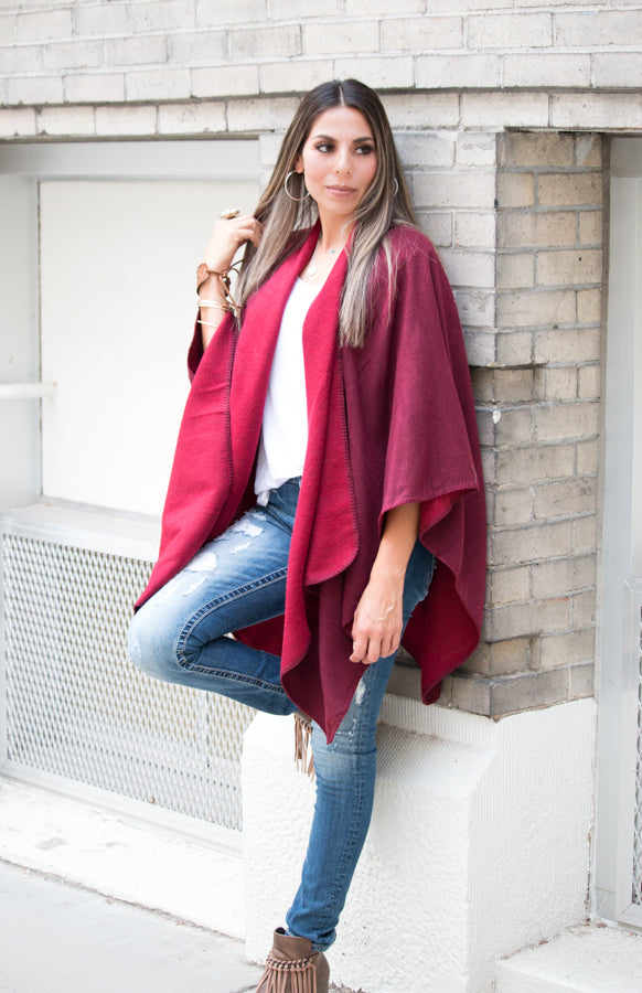 Reversible Poncho | 5 Colors