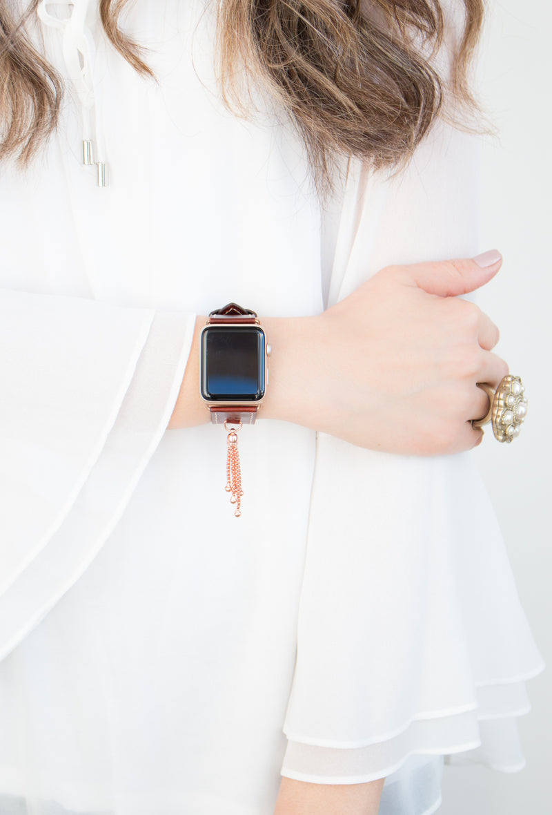 The Izzy | Leather Tassel Apple Watch Band
