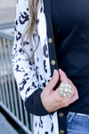 Leopard Button Snap Cardigan | S-2XL