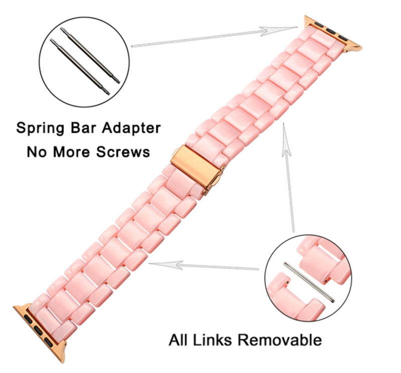 Resin Apple Watch Band | 8 Colors