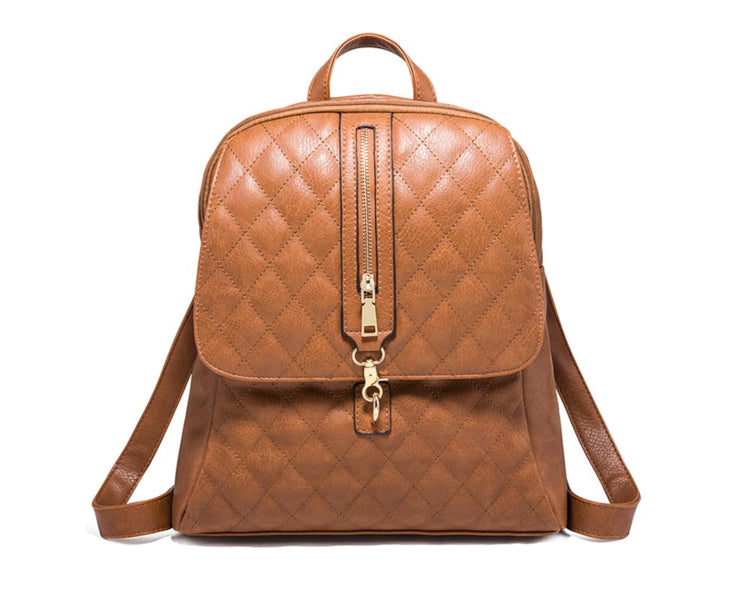 The Josey | Quilted Leather Backpack
