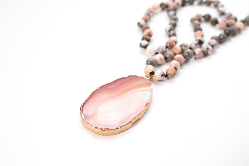The Emily Natural Stone Pendant Necklace