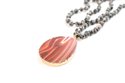 The Nora Natural Stone Pendant Necklace