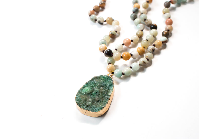 The Sofia Natural Stone Pendant Necklace